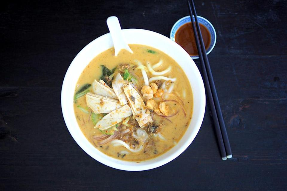 Siam laksa may look plain and uninteresting but it's that piquant, creamy broth that will have you asking for more. — Pictures by Lee Khang Yi