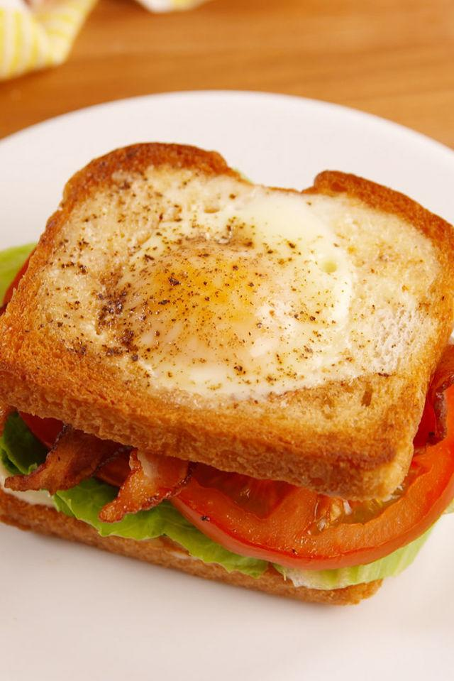 "<div>Your favorite breakfast meets your favorite sandwich.</div><div>Get the recipe from <a rel=""nofollow"" href=""http://www.delish.com/cooking/recipe-ideas/recipes/a43910/egg-in-a-hole-blt-recipe/"">Delish</a>.</div>"