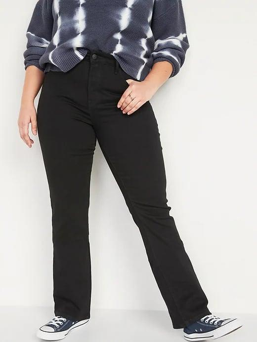 <p>These <span>Old Navy High-Waisted Kicker Boot-Cut Black Jeans</span> ($35, originally $40) are the black jeans to pick if you don't want a straight or skinny style.</p>