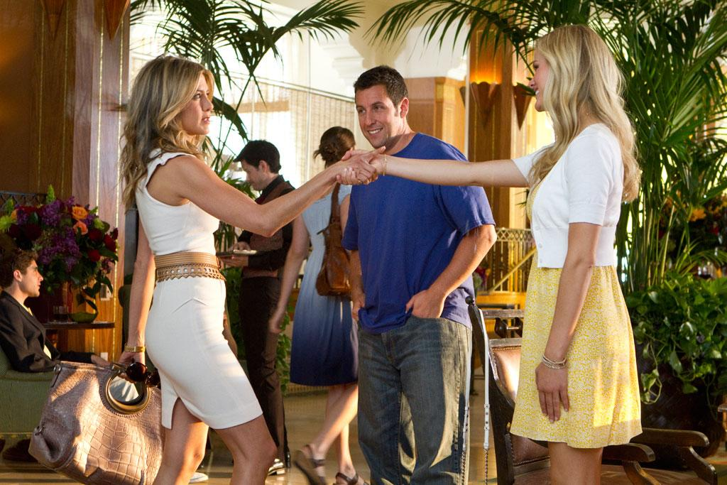 "<a href=""http://movies.yahoo.com/movie/1810150358/info"">Just Go With It</a> - 2011  <a href=""http://movies.yahoo.com/movie/contributor/1800021397"">Jennifer Aniston</a> and <a href=""http://movies.yahoo.com/movie/contributor/1810172733"">Brooklyn Decker</a>"