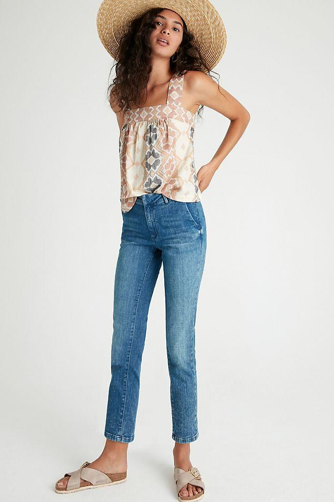 Pilcro High-Rise Slim Jeans. Image via Anthropologie.