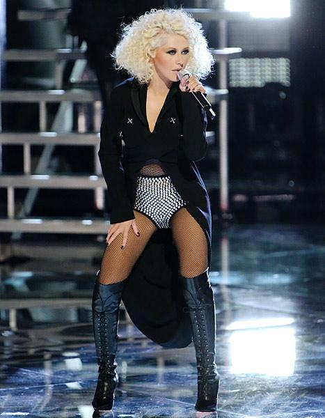 Christina Aguilera Shows Off Toned Tummy, Thighs in Performance Outfit: See Her Sexy Voice Looks