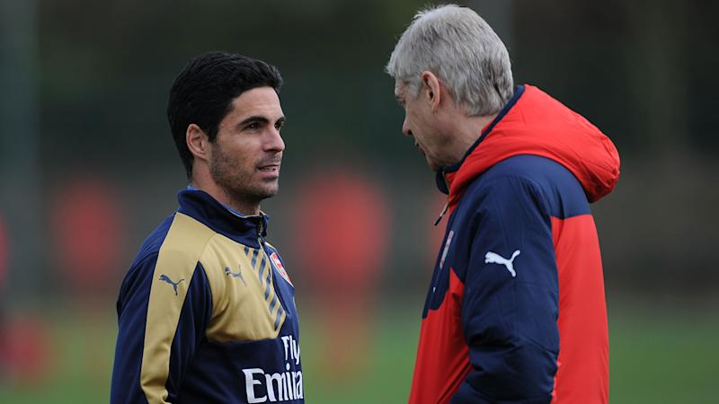 Former captain Arteta is a frontrunner for the Arsenal manager's job. Pic GettyMore
