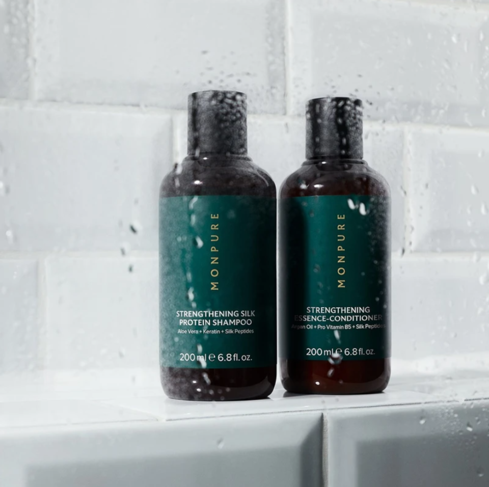 The hair care experts at Monpure formulated this shampoo and conditioner due to be mild enough for everyday use. Each bottle stars a nourishing cocktail of vegan, plant-based ingredients and an aromatherapeutic blend of essential oils to cleanse and replenish your scalp.