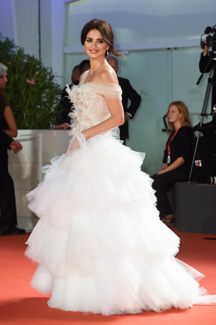 Bringing drama to the red carpet, Penelope Cruz chose a frothy AW19 Ralph and Russo couture gown. Swarovski jewels gave the ensemble a princess-worthy finish. <em>[Photo: Getty]</em>