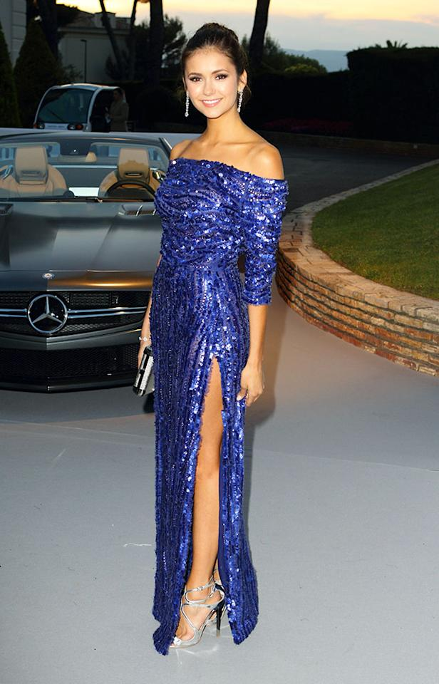 ANTIBES, FRANCE - MAY 24:  Nina Dobrev arrives at amfAR's Cinema Against AIDS Gala 2011 at Hotel Du Cap at Hotel Du Cap on May 24, 2012 in Antibes, France.  (Photo by Mike Marsland/WireImage)