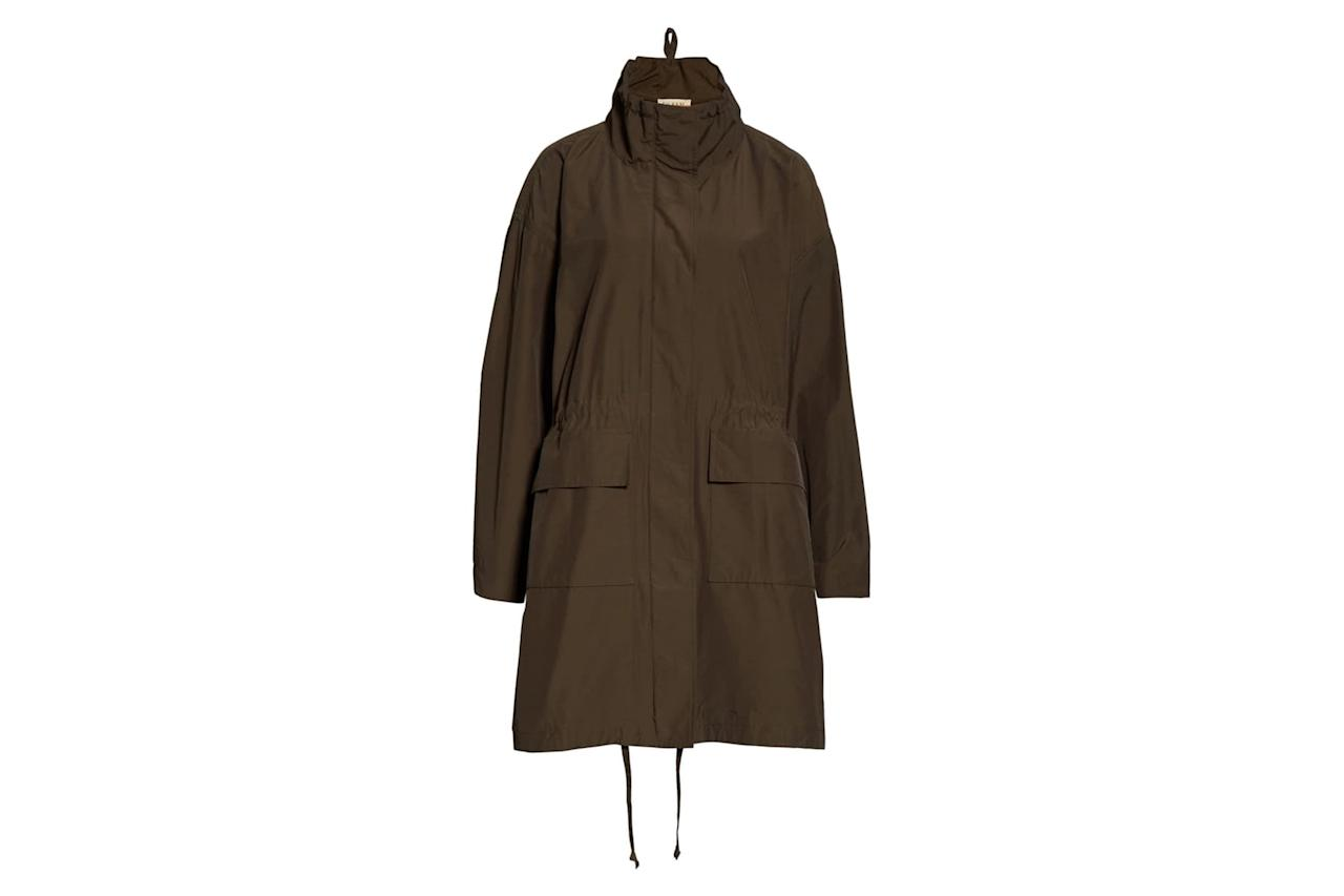 "$298, Nordstrom. <a href=""https://shop.nordstrom.com/s/eileen-fisher-fishtail-organic-cotton-blend-anorak-unisex-nordstrom-exclusive/5459346/full?origin=category-personalizedsort&breadcrumb=Home%2FBrands%2FEileen%20Fisher&color=surplus"">Get it now!</a>"