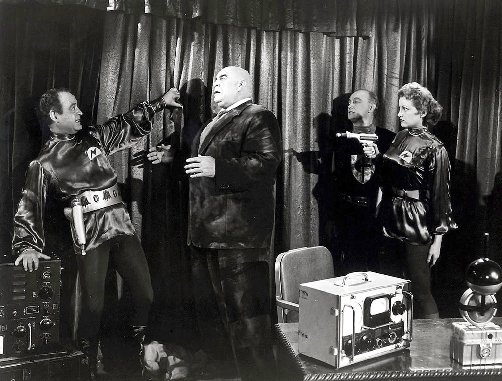 """<a href=""""http://movies.yahoo.com/movie/1800365587/info"""">Plan 9 From Outer Space</a> (1958): This is probably where I should have chosen """"The 400 Blows."""" But Ed Wood's low-budget sci-fi schlockfest is universally considered the worst film ever made -- and that makes it kind of awesome in its own way. A classic within the director's ignominious canon, """"Plan 9"""" is a marvel of shoddy effects, continuity errors, bad writing and worse acting -- and Bela Lugosi's in it, even though he didn't exactly intend to be. But it's delightfully awful, giddily so, especially as depicted in Tim Burton's sorta-true biopic """"Ed Wood,"""" starring Johnny Depp as the oddball director. The plot? Something to do with angry aliens mobilizing the dead to take over the planet. Just sit back and enjoy the UFOs dangling from visible wires."""