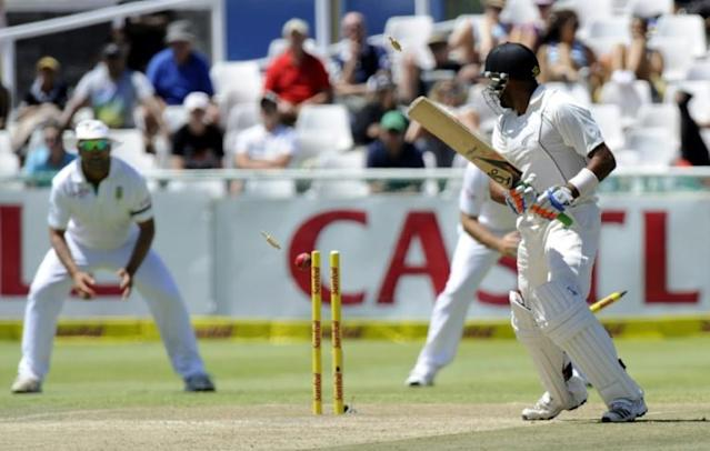 Even New Zealand's 45 all out in Cape Town in 2013 bettered the 1955 collapse (AFP Photo/ALEXANDER JOE)