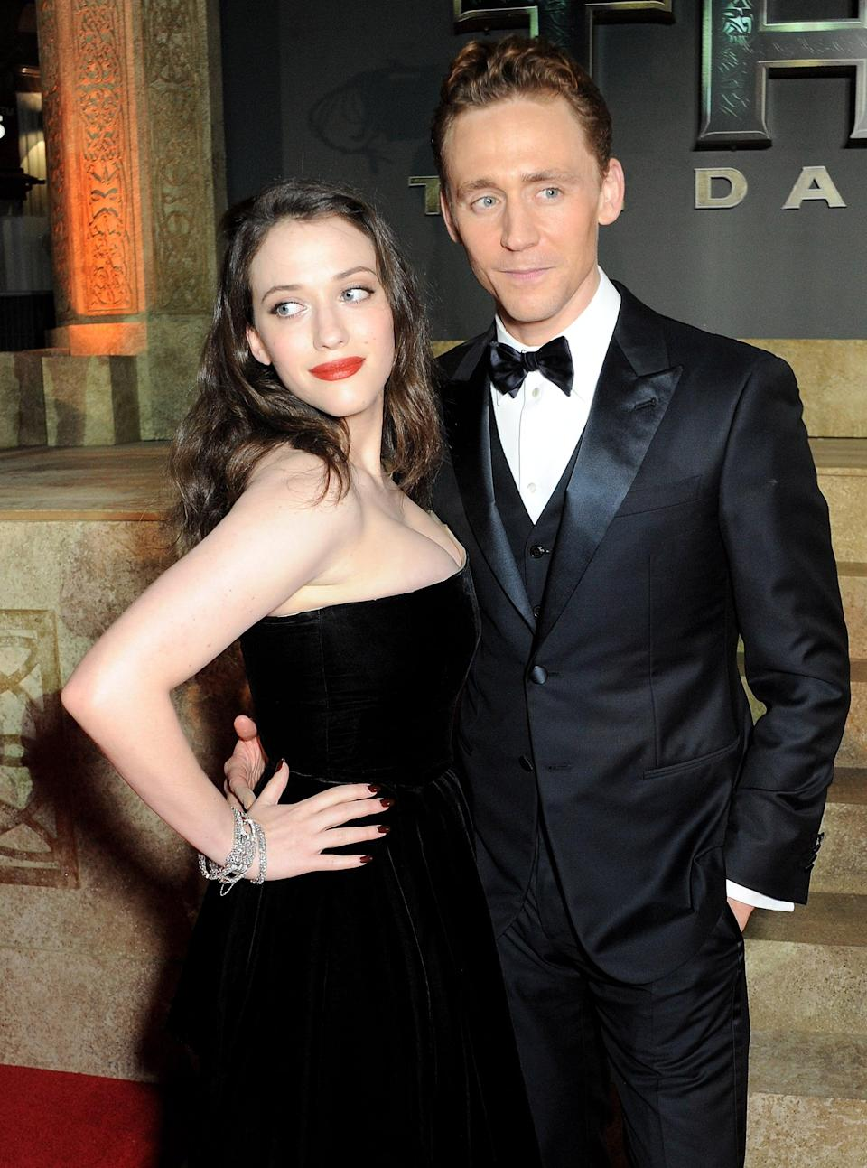 """<p><a href=""""https://www.popsugar.com/celebrity/Who-Has-Tom-Hiddleston-Dated-41763532"""" class=""""link rapid-noclick-resp"""" rel=""""nofollow noopener"""" target=""""_blank"""" data-ylk=""""slk:The Thor costars dated briefly"""">The <strong>Thor</strong> costars dated briefly</a> in 2010, even <a href=""""https://www.eonline.com/photos/8499/they-dated-surprising-star-couples"""" class=""""link rapid-noclick-resp"""" rel=""""nofollow noopener"""" target=""""_blank"""" data-ylk=""""slk:holding hands while attending Comic-Con"""">holding hands while attending Comic-Con</a> that same year. However, their relationship had ended by <strong>Thor</strong>'s 2011 premiere.</p>"""
