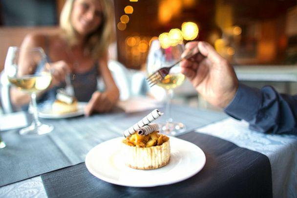 PHOTO: A couple on a dinner date night is pictured in this undated stock photo. (STOCK PHOTO/Getty Images/Caiaimage)