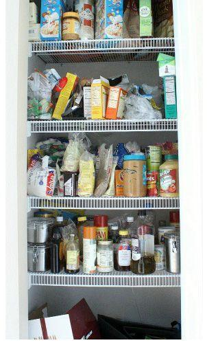 """<p>Cereal and cracker boxes take up way too much space in <a href=""""http://designdininganddiapers.com/2013/01/new-pantry-organization/#_a5y_p=1150787"""" rel=""""nofollow noopener"""" target=""""_blank"""" data-ylk=""""slk:this small pantry"""" class=""""link rapid-noclick-resp"""">this small pantry</a>.</p>"""