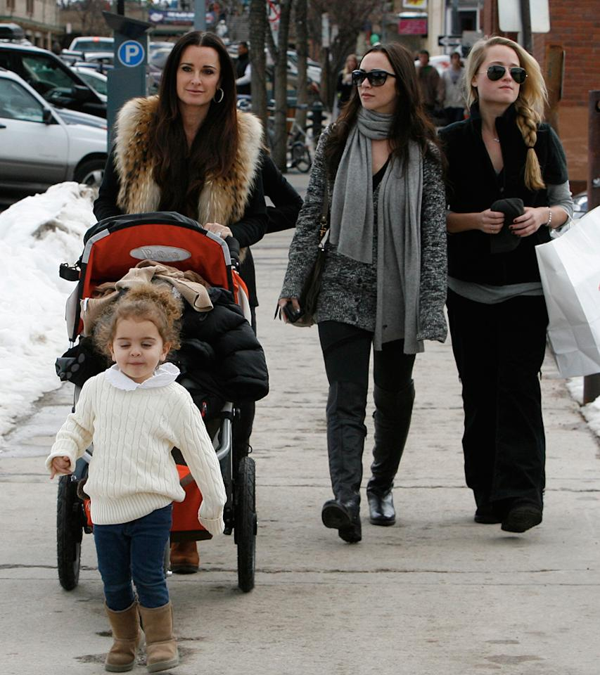 "Although her nieces, Paris and Nicky Hilton, headed to Hawaii for the holidays, ""Real Housewives of Beverly Hills"" star Kyle Richards opted for a white Christmas in Aspen. London Entertainment/<a href=""http://www.splashnewsonline.com/"" target=""new"">Splash News</a> - December 23, 2010"