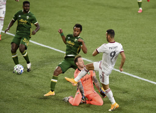 2 late goals give Salt Lake a 4-all tie with Portland