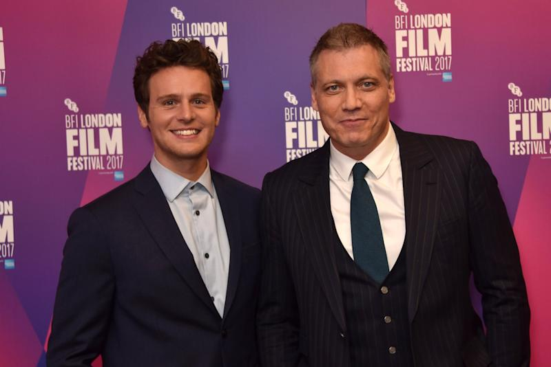 LONDON, ENGLAND - OCTOBER 10: Jonathan Groff (L) and Holt McCallany attend the LFF Connects Special Presentation:
