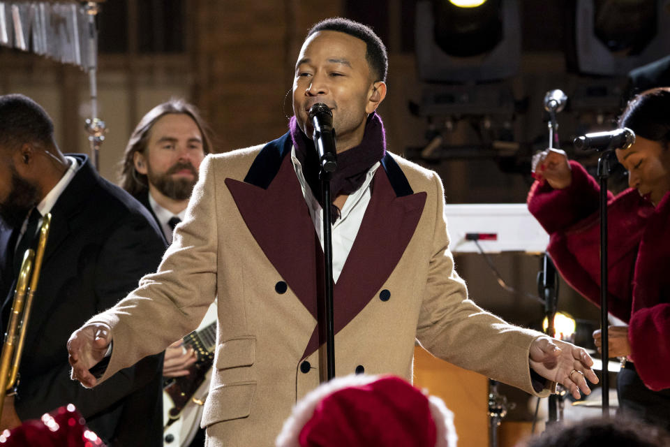 """John Legend is defending his """"silly"""" take on """"Baby, It's Cold Outside."""" (Photo: Virginia Sherwood/NBC/NBCU Photo Bank via Getty Images)"""
