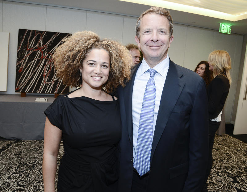 IMAGE DISTRIBUTED FOR ICEF PUBLIC SCHOOLS - ICEF board member Bridgid Coulter, left, and United Talent Agency CEO Jeremy Zimmer attends the art auction and cocktail reception benefit for ICEF Public Schools (Inner City Education Foundation) at the United Talent Agency on Thursday, May 7, 2015 in Beverly Hills, Calif. (Photo by Dan Steinberg/Invision for ICEF Public Schools/AP Images)