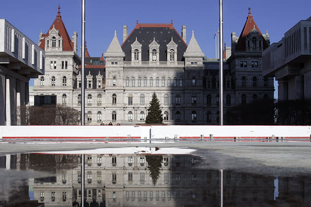 This is somebody else's house—the New York State House, to be exact, which garnered more than $25,000 in taxes from the sale and purchase of my new home. States have supposedly been strapped for cash since the recession crimped tax receipts. I can't say I'm happy to be helping solve that problem.