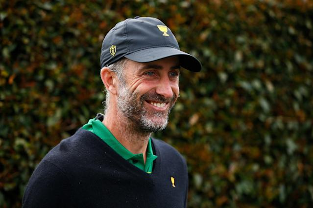 """<h1 class=""""title"""">Geoff Ogilvy 2019 Presidents Cup Previews</h1> <div class=""""caption""""> <strong>Geoff Ogilvy served as an assistant captain on the International Presidents Cup team last year, and his insights and analysis would be welcomed in a bigger way on TV.</strong> </div> <cite class=""""credit"""">(Photo by Daniel Pockett/Getty Images)</cite>"""