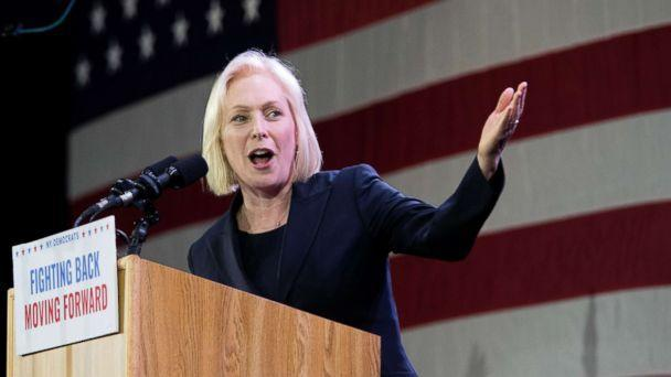 PHOTO: Sen. Kirsten Gillibrand, speaks to supporters during an election night watch party hosted by the New York State Democratic Committee, Nov. 6, 2018, in New York, after being re-elected. (Mary Altaffer/AP)
