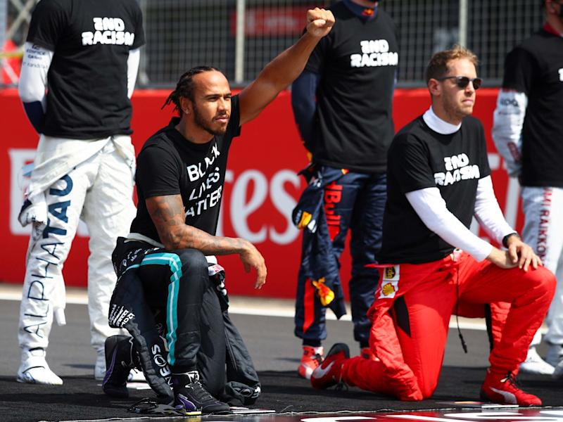 Lewis Hamilton underwent diversity training in an effort to increase his understanding of racial equality: EPA