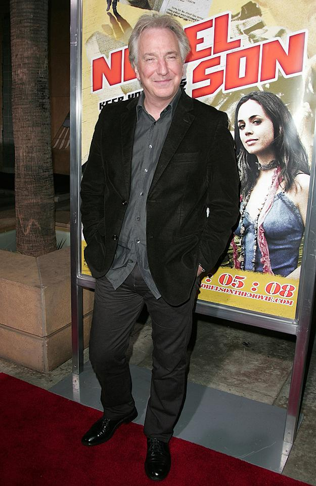 """<a href=""""http://movies.yahoo.com/movie/contributor/1800021960"""">Alan Rickman</a> at the Los Angeles premiere of <a href=""""http://movies.yahoo.com/movie/1809354225/info"""">Nobel Son</a> - 12/02/2008"""
