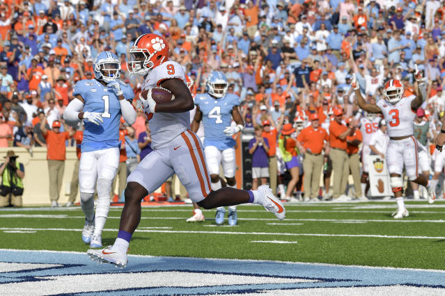 Some Clemson fans were not pleased after being targeted on the UNC video board Saturday. (Getty)