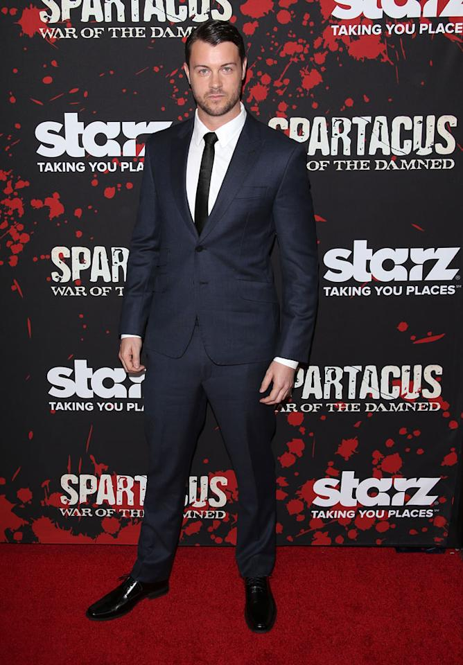 "Daniel Feuerriegel attends the premiere of Starz's ""Spartacus: War of the Damned"" at Regal Cinemas L.A. Live on January 22, 2013 in Los Angeles, California."
