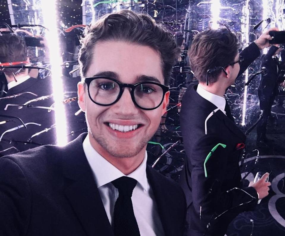 We caught up with AJ at the Spectacle Wearer of the Year Awards. Copyright: [Instagram]
