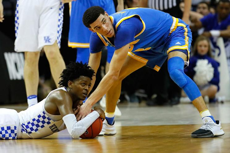 De'Aaron Fox and Lonzo Ball will be two of the first point guards selected on Thursday. (Getty)