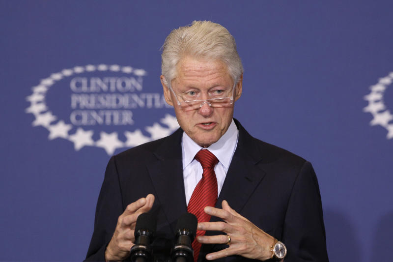Former President Bill Clinton speaks about health care at the Clinton Presidential Center in Little Rock, Ark., Wednesday, Sept. 4, 2013. Clinton's speech comes with the Affordable Healthcare Act in final countdown mode, just a few weeks before the scheduled Oct. 1 launch of online health insurance markets in the states. (AP Photo/Danny Johnston)