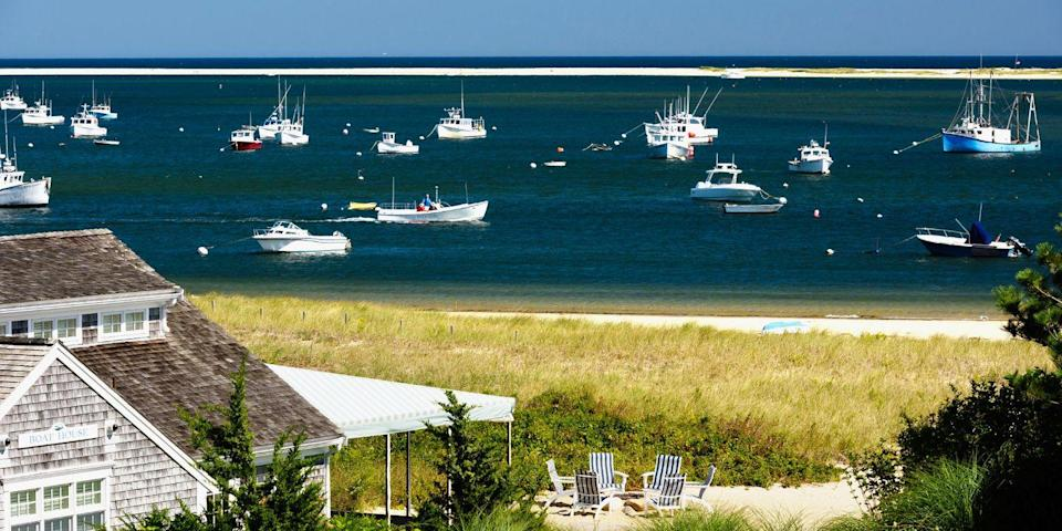 "<p><strong>Best for Lighthouses</strong></p><p>Cape Cod is the quintessential New England summer playground, with gray-shingled cottages, dune-lined beaches, whale-watching tours, and plenty of historic lighthouses along this arm-shaped peninsula, including Provincetown's Race Point Light and Eastham's Nauset Light, the inspiration for the Cape Cod Potato Chips logo. </p><p><strong><em>Where to Stay: </em></strong><a href=""https://www.tripadvisor.com/Hotel_Review-g41778-d89821-Reviews-Harbor_Hotel_Provincetown-Provincetown_Cape_Cod_Massachusetts.html"" rel=""nofollow noopener"" target=""_blank"" data-ylk=""slk:Harbor Hotel Provincetown"" class=""link rapid-noclick-resp"">Harbor Hotel Provincetown</a>, <a href=""https://www.tripadvisor.com/Hotel_Review-g41499-d89650-Reviews-Chatham_Bars_Inn-Chatham_Cape_Cod_Massachusetts.html"" rel=""nofollow noopener"" target=""_blank"" data-ylk=""slk:Chatham Bars Inn"" class=""link rapid-noclick-resp"">Chatham Bars Inn</a></p>"