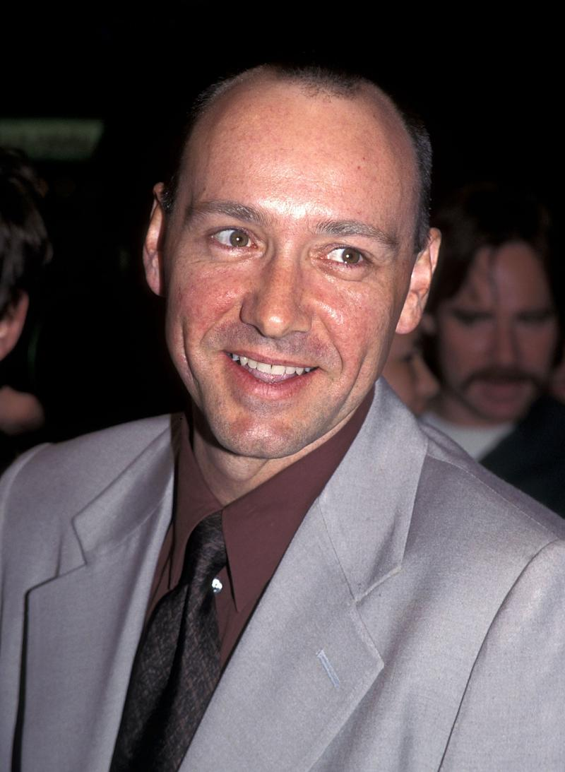 """A military technical adviser on the movie """"Outbreak"""" has also claimed that he was invited back to Kevin Spacey's trailer to engage in a sex act. Spacey is seen during that movie's premiere in 1995."""