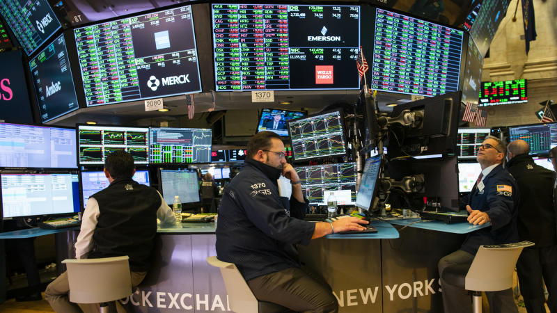 NEW YORK, NY - FEBRUARY 04: Traders work on the floor of the New York Stock Exchange (NYSE) on on February 4, 2020 in New York City. The markets rebounded after a fall last week on coronavirus fears. (Photo by Eduardo Munoz Alvarez/Getty Images)