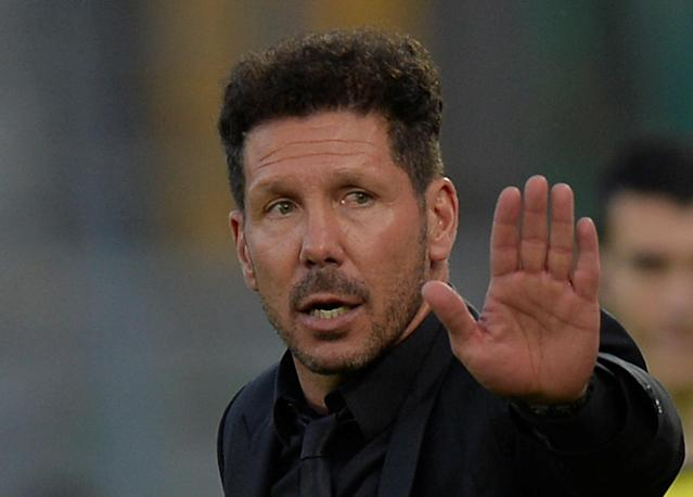 Soccer Football - La Liga Santander - Real Sociedad vs Atletico Madrid - Anoeta Stadium, San Sebastian, Spain - April 19, 2018 Atletico Madrid coach Diego Simeone REUTERS/Vincent West