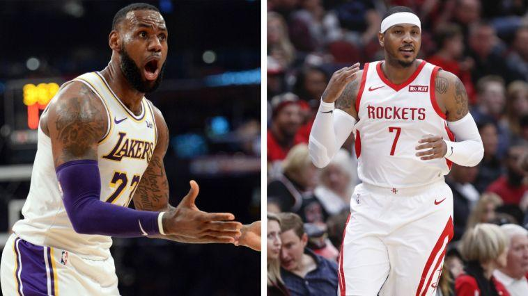 64a17a03daa9 NBA Rumors  LeBron James wants Lakers to add Carmelo Anthony