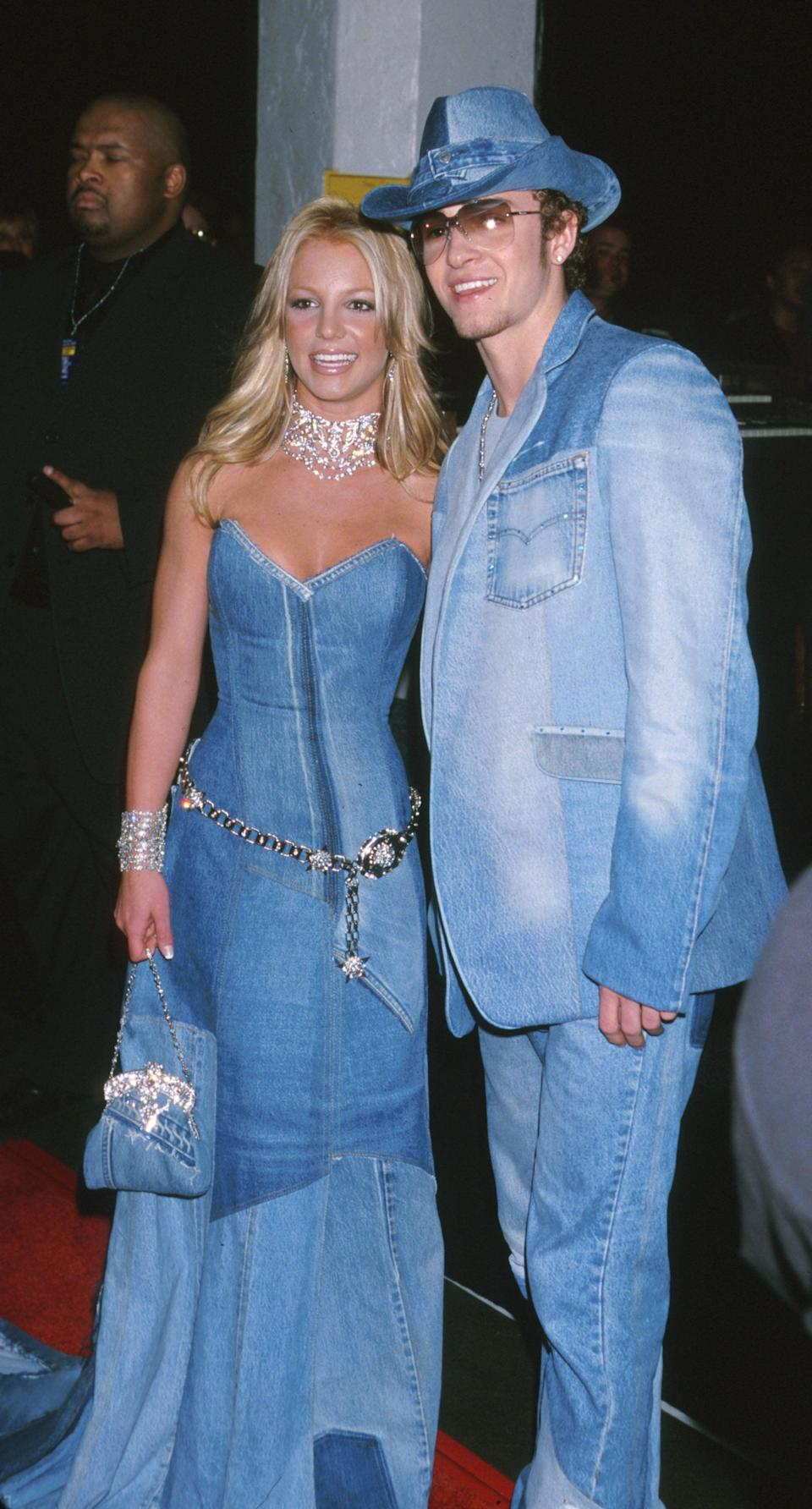 <p>If there's a defining image of the couple's relationship, it's this: their matching, head-to-toe denim outfits at the 2001 American Music Awards.</p>