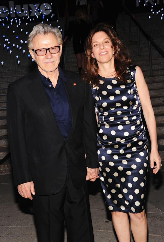 NEW YORK, NY - APRIL 17:  Harvey Keitel and Daphna Kastner attend the Vanity Fair Party during the 2012 Tribeca Film Festival at the State Supreme Courthouse on April 17, 2012 in New York City.  (Photo by Jamie McCarthy/Getty Images)
