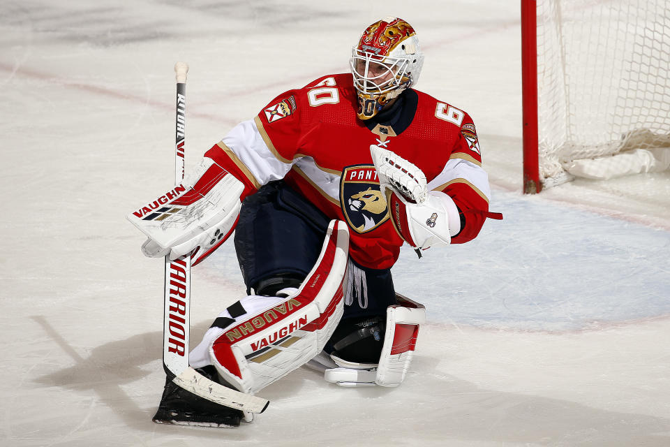 Goaltender Chris Driedger #60 of the Florida Panthers
