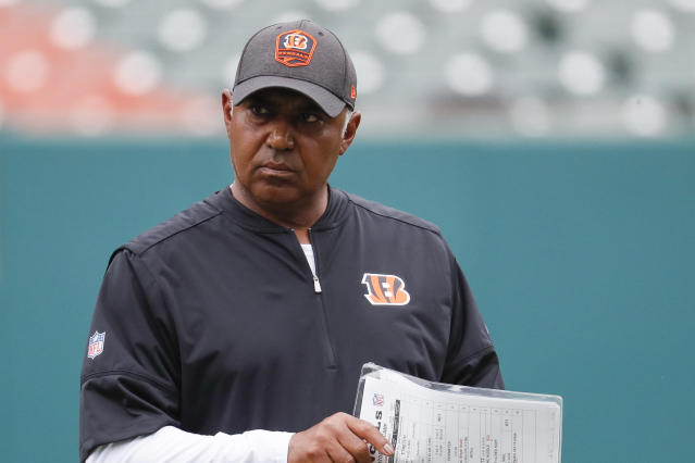 Cincinnati Bengals head coach Marvin Lewis is back after some uncertain times late last season. (AP)