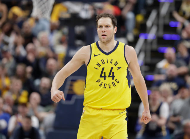 "<a class=""link rapid-noclick-resp"" href=""/nba/players/4913/"" data-ylk=""slk:Bojan Bogdanovic"">Bojan Bogdanovic</a> averaged 14.3 points for the <a class=""link rapid-noclick-resp"" href=""/nba/teams/ind"" data-ylk=""slk:Pacers"">Pacers</a> last season. (AP)"