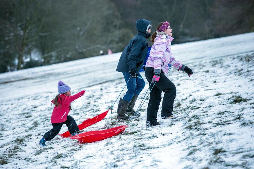 <em>Forecast – even more snow is possible later in April, the Met Office predicted</em>