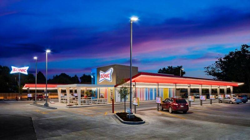 Exterior shot of Sonic Drive-In