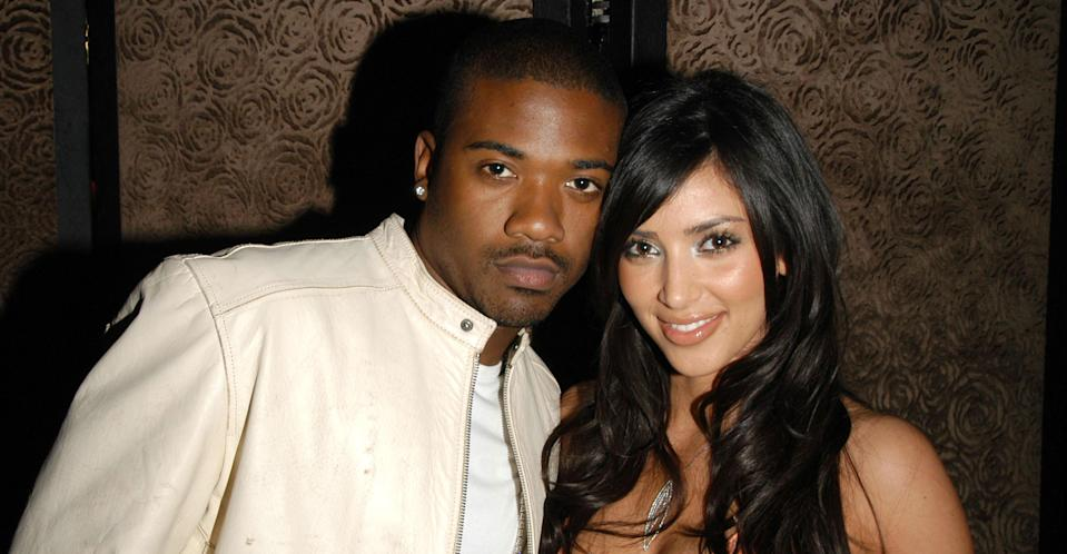Kim Kardashian with Ray J in 2007 (Getty Images)
