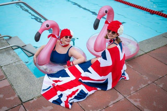 Nicola Foster and Jessica Walker went for a swim at Hillingdon Lido, Uxbridge
