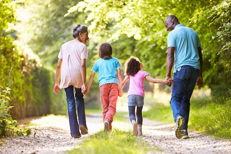 """Time your walk right, and you could ward off that post-meal dip in energy. A 2013 study in <em>Diabetes Care</em> of older adults at risk for pre-diabetes found that participants' blood sugar stayed steadier when they <a href=""""https://care.diabetesjournals.org/content/36/10/3262"""" rel=""""nofollow noopener"""" target=""""_blank"""" data-ylk=""""slk:took walks during the day"""" class=""""link rapid-noclick-resp"""">took walks during the day</a>. The most significant results came when they took a 15-minute walk after each of their three meals a day, rather than squeezing all their steps in during one 45-minute bout."""
