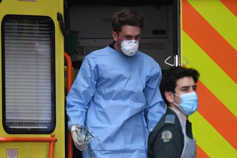 NHS England announced 59 new coronavirus deaths in hospitals in England: AFP via Getty Images
