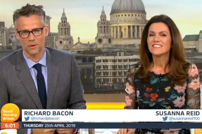 New gig: Richard Bacon with Susanna Reid on GMB (ITV)