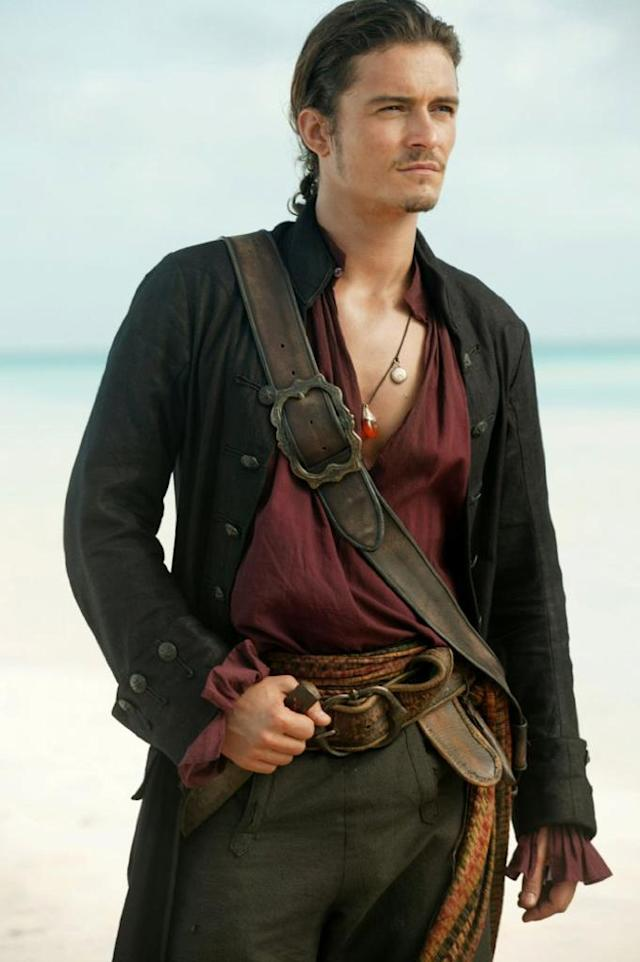 Orlando Bloom in 'Pirates of the Caribbean: At World's End' (Photo: Disney) <br>
