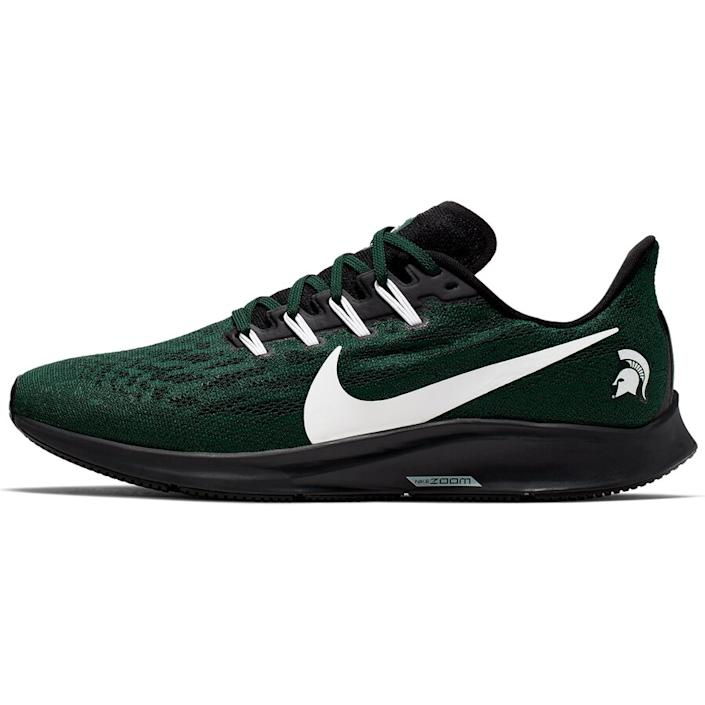Men's Nike Green/White Michigan State Spartans Air Zoom Pegasus 36 Sneakers